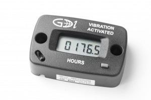 Vibration activated hour meter
